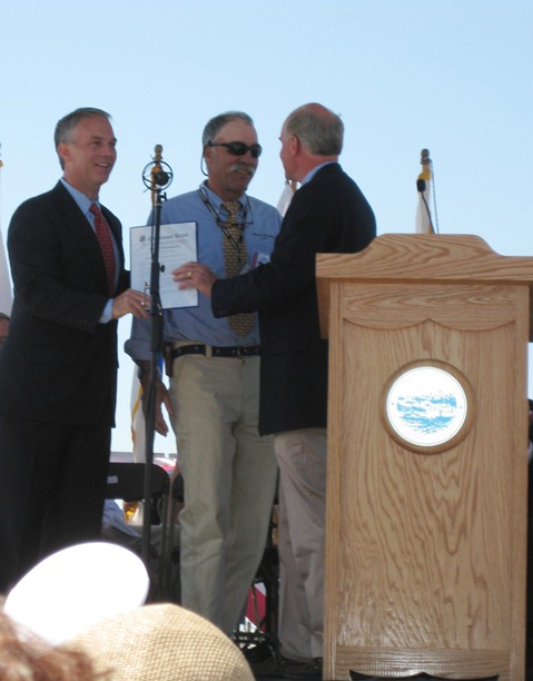 Mayor Mitchell, Captain Kip Files, & Congressman Keating